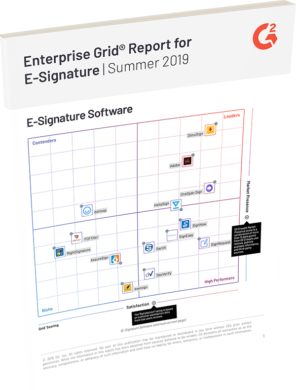 G2 crowd enterprise esignature report 2019