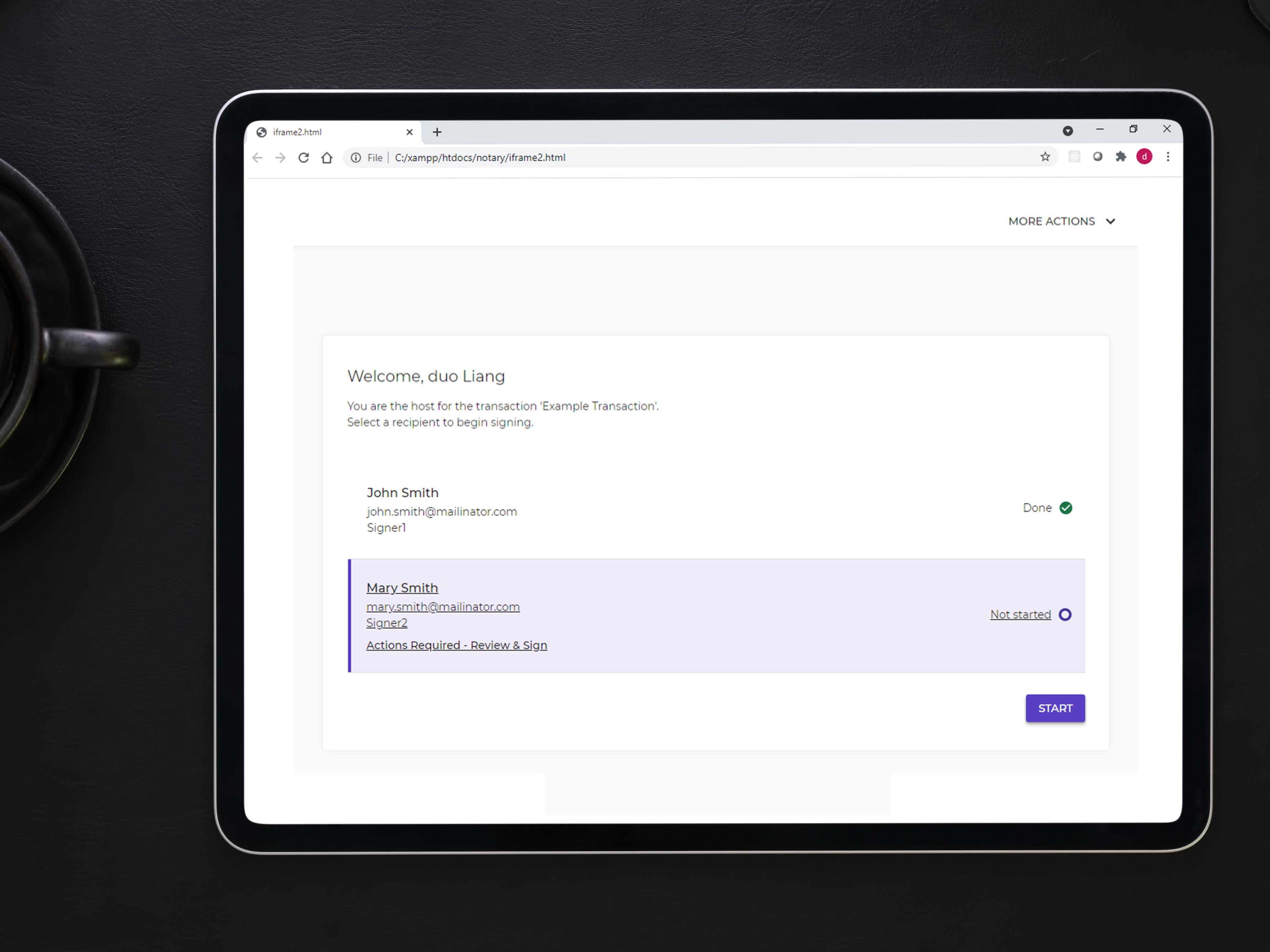 OneSpan Sign Release 11.42: Revamped Javascript Notifications