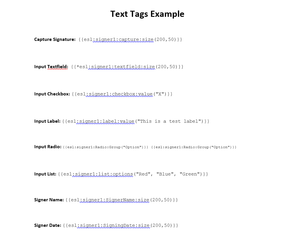 text tags