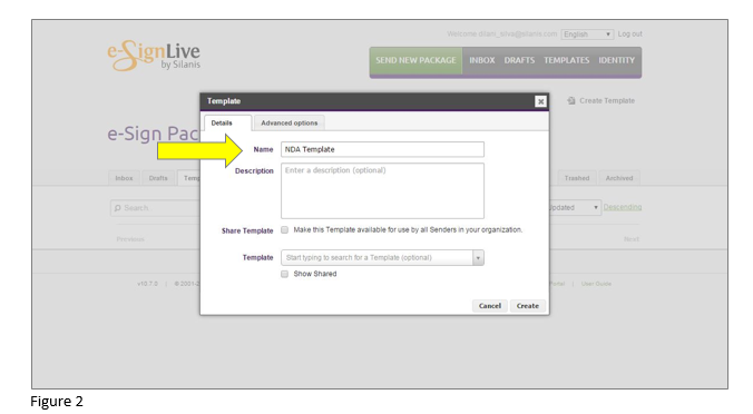 How to set up an e-signature template in OneSpan Sign - Step 2