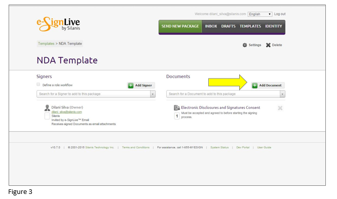 How to set up an e-signature template in OneSpan Sign - Step 3