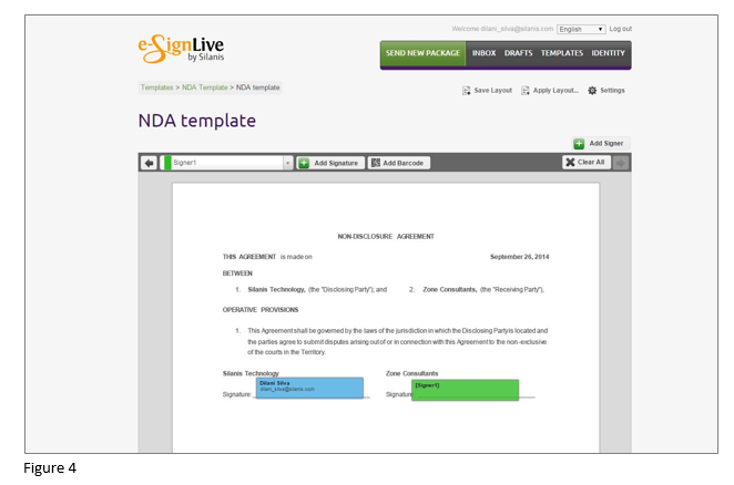 How to set up an e-signature template in OneSpan Sign - Step 4