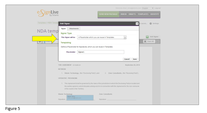 How to set up an e-signature template in OneSpan Sign - Step 5