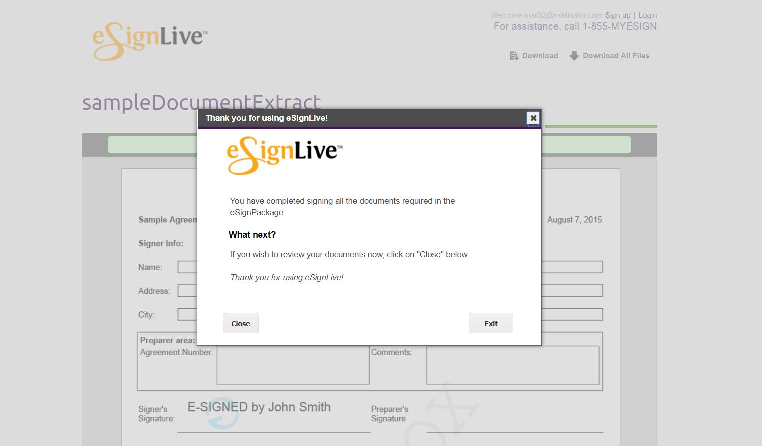 signing method screenshot