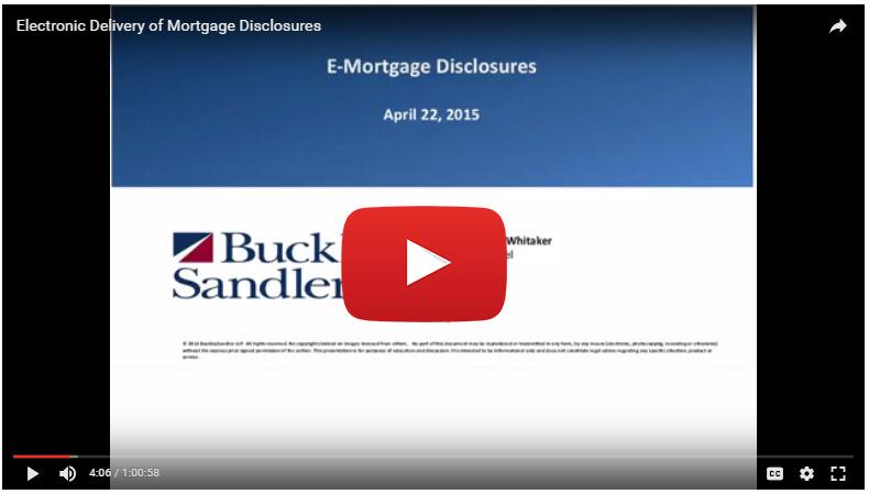 Digital Mortgage e-disclosures