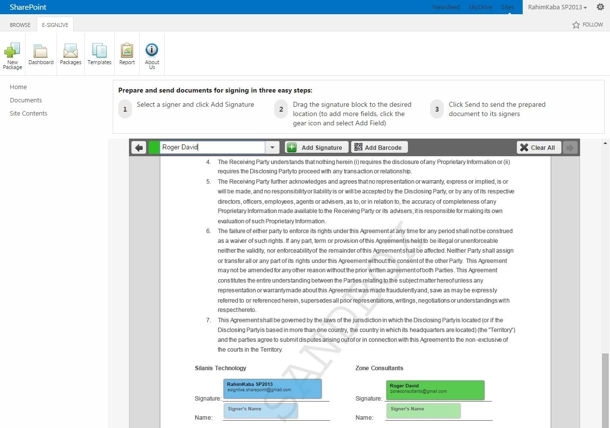 e-SignLive for SharePoint