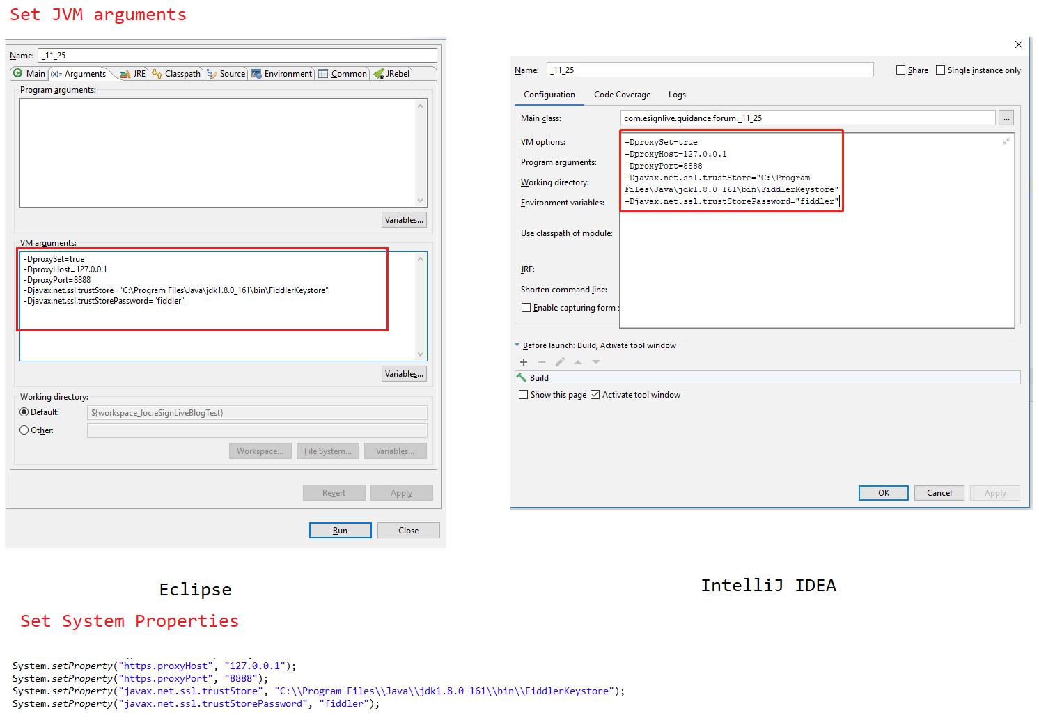 OneSpan Sign Developer: Enable HTTP Capture for Java