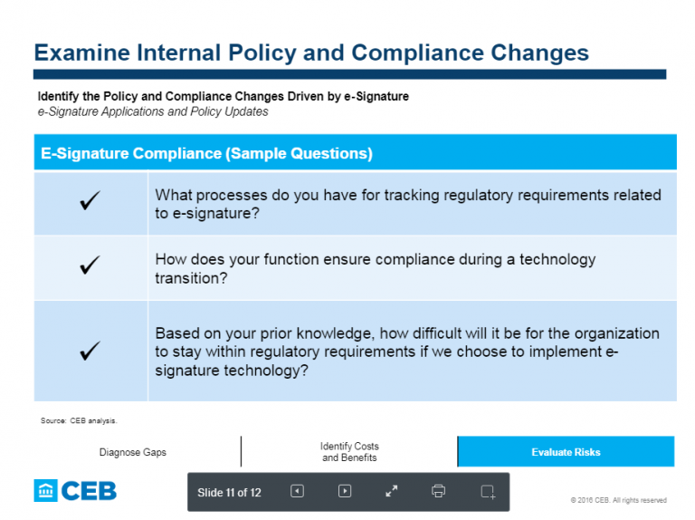 CEB Gartner How to Build Esignature Compliance