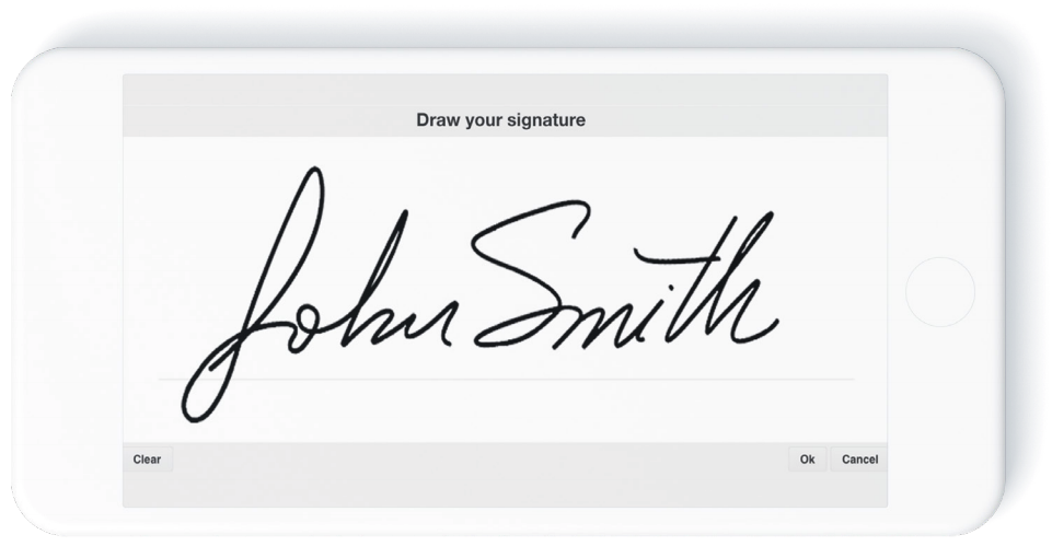 John Smith signature on screen image