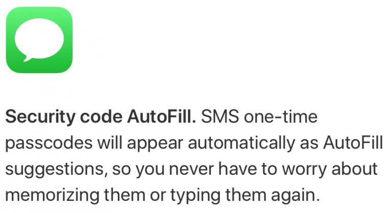 Security Code AutoFill
