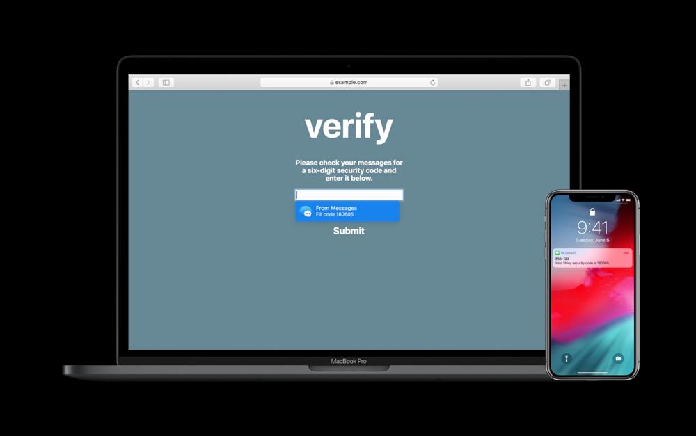 Security Code AutoFill Sync MacBook