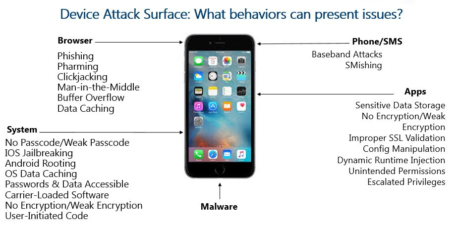 Device Attack Surface: What behaviors can present issues?