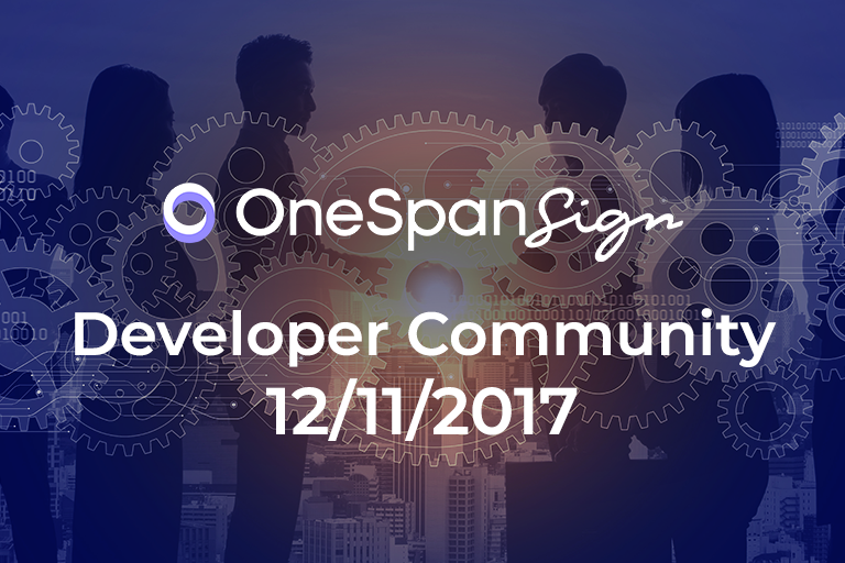 OneSpan Sign Developer Community: Customization and Disclosure Document