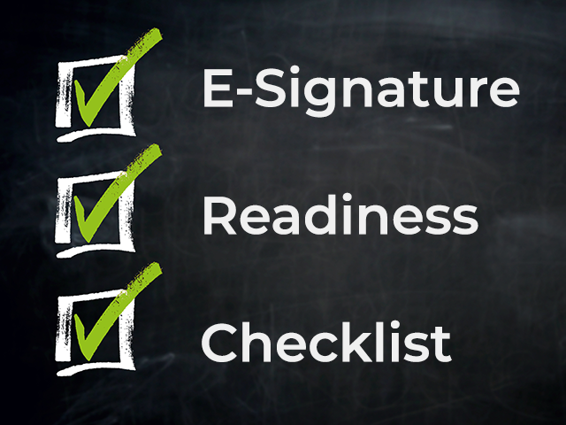 E-Signature Readiness Checklist