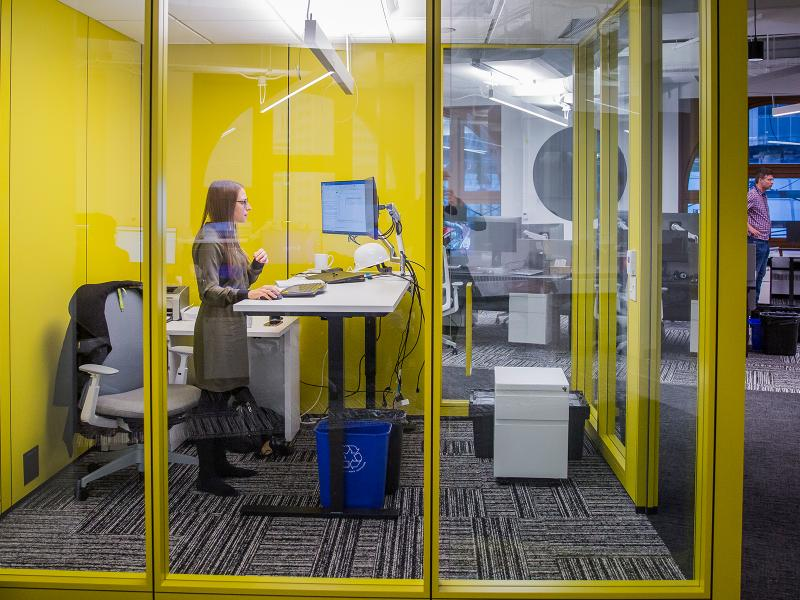 Yellow Office Cube Montreal