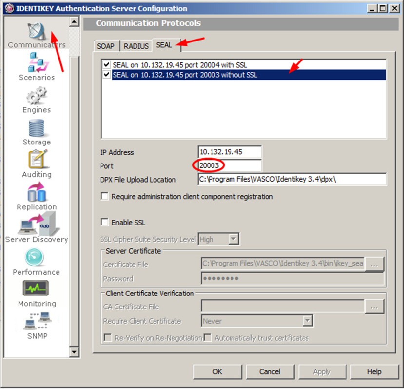 kb 150107 how to change default ports used by identikey