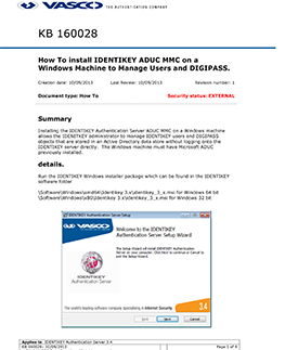 KB_160028: How To install IDENTIKEY ADUC MMC on a Windows Machine to
