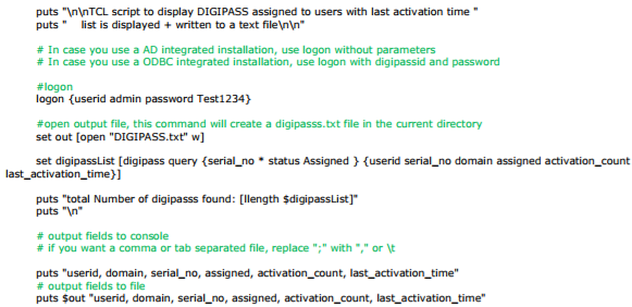 KB_160107: How to Export a List of Assigned DIGIPASS and