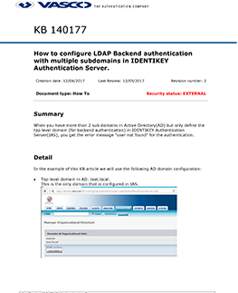 KB_140177: How to configure LDAP Backend authentication with